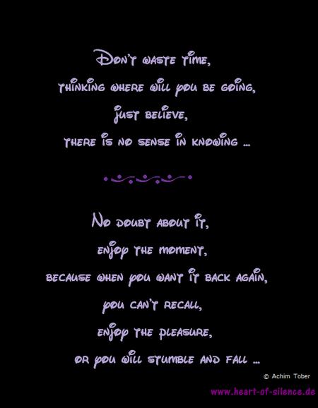 Englische Gedichte Heart Of Silence