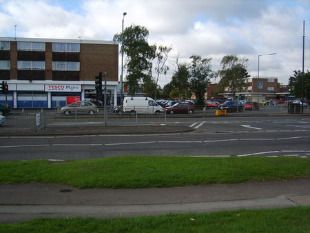 Castle Bromwich shops on the site of Timberley. Image from Geograph OS reference SP1589 © Carl Baker licensed for reuse under Creative Commons Licence Attribution-Share Alike 2.0 Generic.