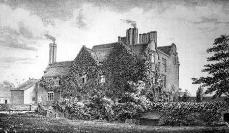 Erdington Hall. Image from Harrison & Willis 1879 The Great Jennens Case from Google Books, a work now in the public domain