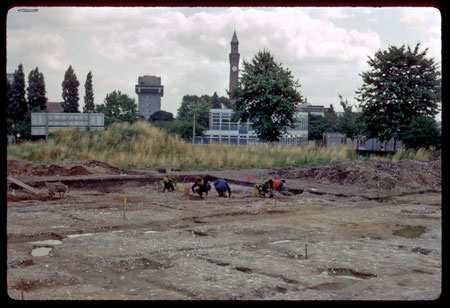 Excavations at Metchley Roman fort photographed in 1969 by Phyllis Nicklin.