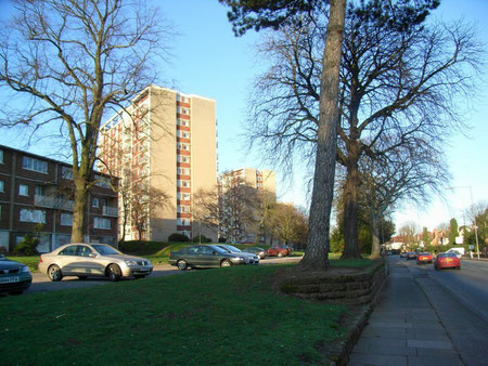 The Lyndhurst estate viewed from Sutton Road