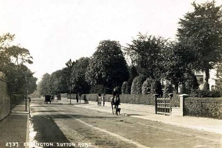 Sutton Road - Buy this card from Dave Gregory at Postcards of the Past - see Acknowledgements.