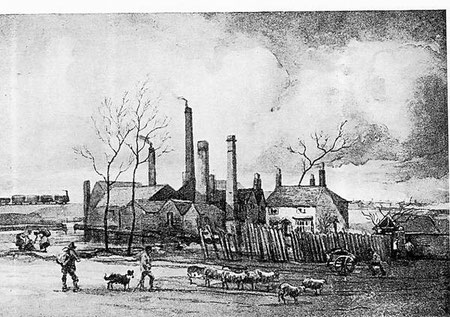 Thimble Mill - date unknown. Image reproduced from St Joseph's RC Church & School, Nechells website by kind permission of Richard Scott. See Acknowledgements for a link to this site.