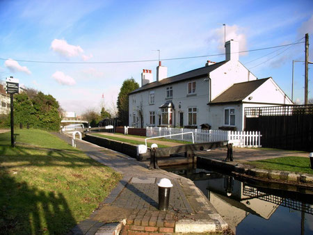 The lock-keeper's cottage at Minworth top lock