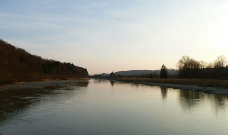 Der Mühltalkanal in Richtung Süden