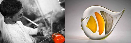Antoine Pierini Studioglas in der CCAA GLASGALERIE KÖLN, Glaskunst, Studioglas