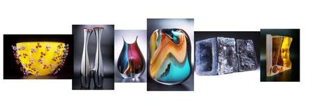 Peter Layton Studioglas in der CCAA GLASGALERIE KÖLN, Glaskunst, Studioglas