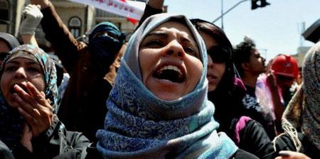 Oppositionen på gaden i Sanaa