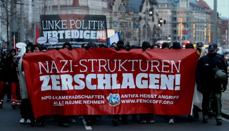 Antifa demo i Leipzig, d 27.11.2011