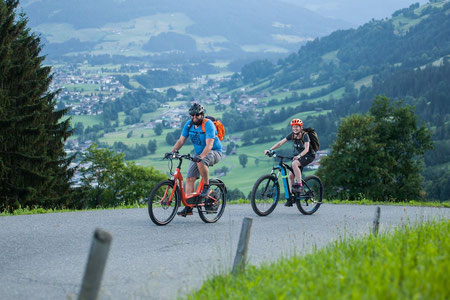 Tour beim e-Bike Festival in Westendorf