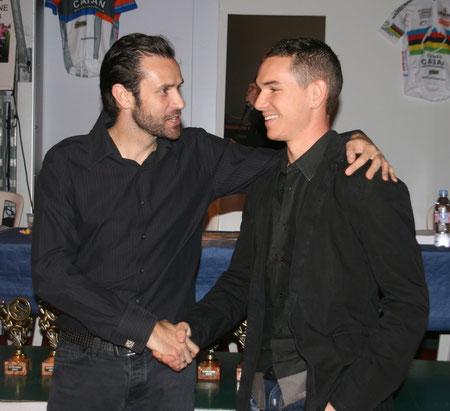 Passage de témoin entre Stéphane Goubert et Clément Koretzky