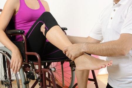 Patienten im Rollstuhl