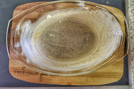 Glass baking dish for Soufflé