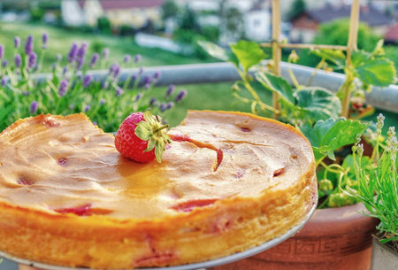Pastiera Napoletana with Strawberries
