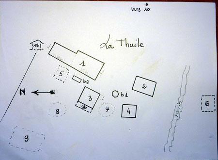 Plan schématique des bâtiments autrefois