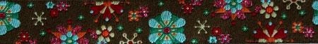 Mandala Glitzerblumen braun