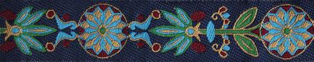 Pinwheel dunkelblau weinrot grün 24 mm
