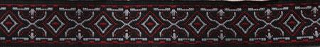 Rauten schwarz-rot 16mm