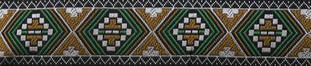 Indianer schwarz caramel grün