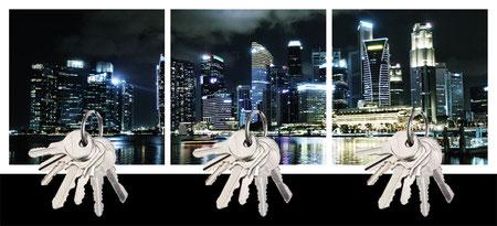 Design Geschenk Singapur Skyline