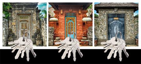 Design Geschenk Bali Türen