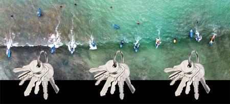 Design Geschenkidee Drohne Surfer