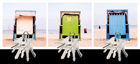 Design Geschenk Ostsee Strandkorb