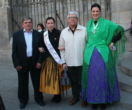 De izquierda a derecha: Fco. Javier Ortega, Ana Pablo, A.Matilla y Laura Sarvisé