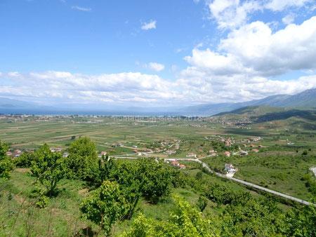 Vue sur le lac d'Ohrid