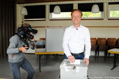 Auch Jan Metzler hat von seinem Wahlrecht Gebrauch gemacht und ging in Dittelsheim-Heßloch wählen.