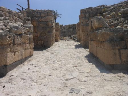 Первые ворота на входе в археологический парк, бронзовый век