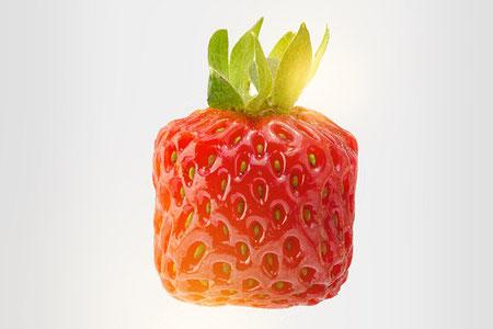 Eckige Erdbeere