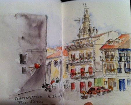 Fontarrabie Place d'Armes