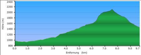Profil normale Etappe. meine alpine war deutlich schwieriger.
