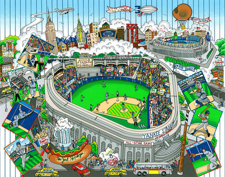 Charles Fazzino - Baseball Pop Art - Yankees All Star Game