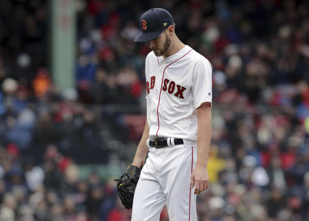 Sguardo desolato di Chris Sale