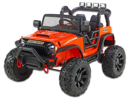 Brothers Geländewagen/24V/400W/1-Sitzer/Kinderauto/Kinder Elektroauto/orange/