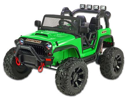 Brothers Geländewagen/24V/400W/1-Sitzer/Kinderauto/Kinder Elektroauto/grün/