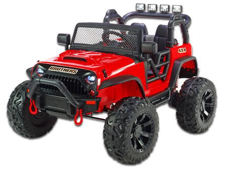 Brothers Geländewagen/24V/400W/1-Sitzer/Kinderauto/Kinder Elektroauto/rot/