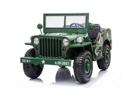 Retro Geländewagen MB/3-Sitzer/Kinderauto/Kinder Elektroauto/dreisitzer/grün/