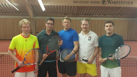 Spieler von links nach rechts: Nils Gerlach, Marcel Peukert, Henrik Zekow, Björn Eklond, Patrick Padberg
