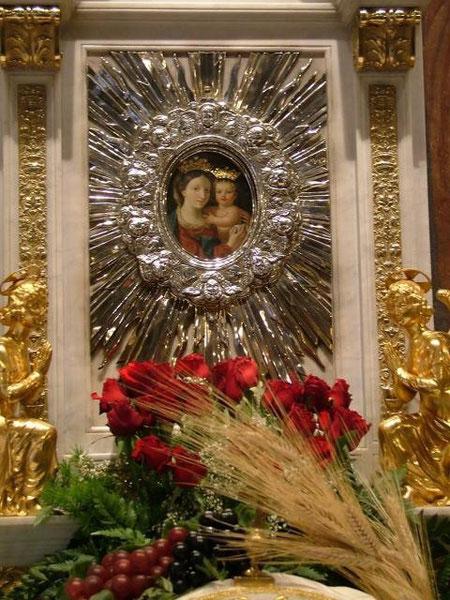 L'immagine della Madonna della Fiducia nella Cappella del Seminario Maggiore Romano