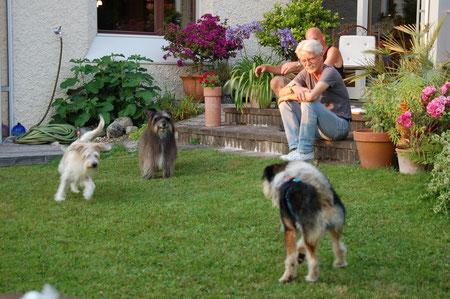 Gemütliches Zusammensein im wunderschönen Garten