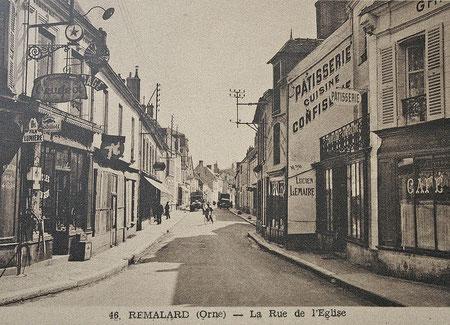 Rémalard dans l'Orne dans les années 50