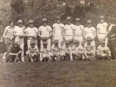 Il baseball sbarca a Chianciano Terme a metà anni '70