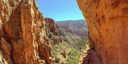 Walk into the Grand Canyon from the North Rim