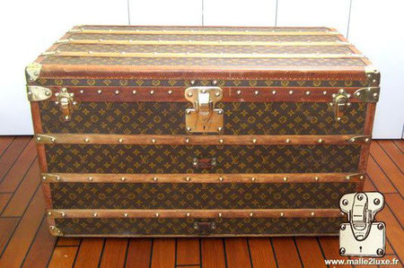 Malle courrier 90 cm louis vuitton 1914