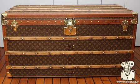 Malle louis vuitton 1930 courrier 1m10
