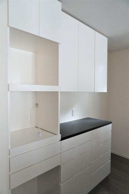 キッチン収納 カップボード オーダーメイド 造り付け家具