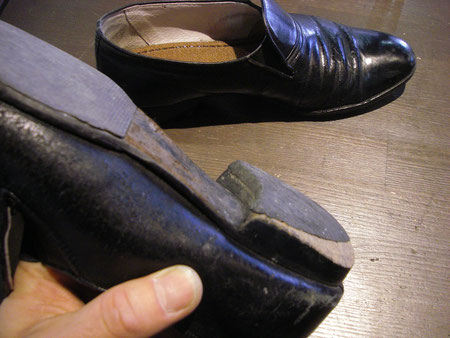 徳島県阿南市 靴修理&靴磨き専門店 シューズマイスター カカト修理 積上げ修理 リーガルタイプ メンズ